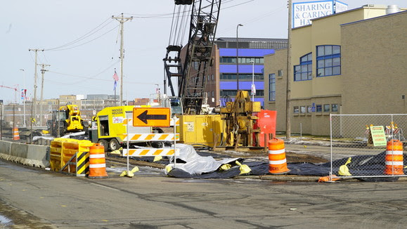 Weekly Construction Photo: Bridge Pier Work on Royalston Avenue in Minneapolis