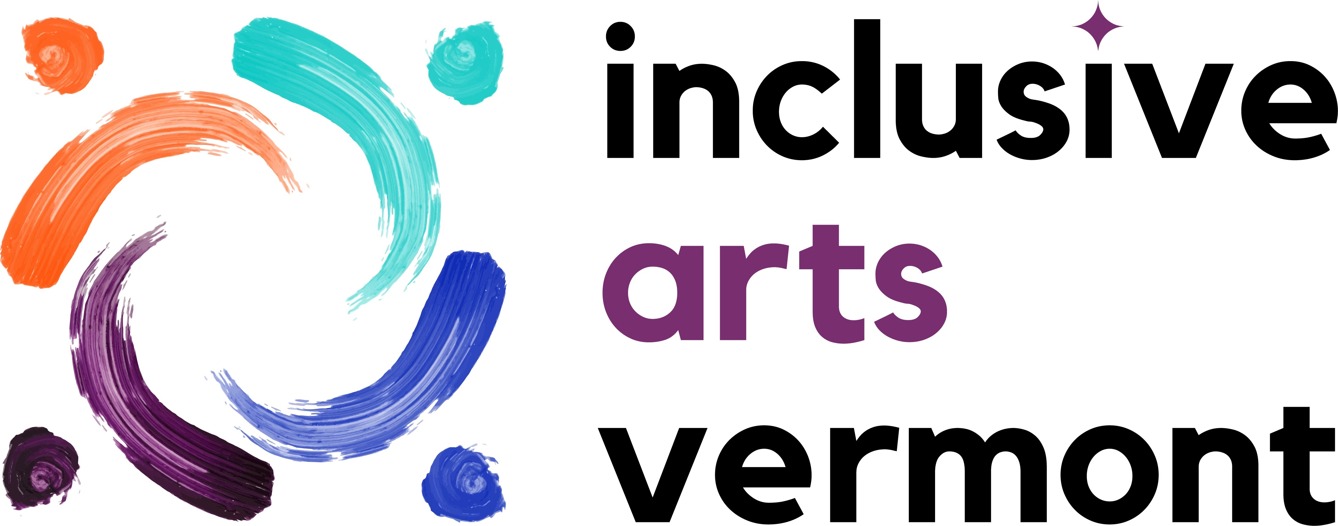 Inclusive Arts Vermont Logo - Horizontal - Full Color