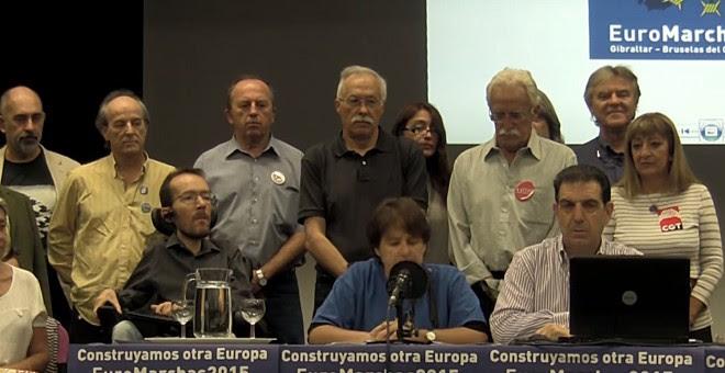 Presentación de las Euromarchas 2015 el pasado 15 de septiembre.- CAPTURA