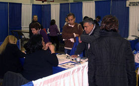PHOTO: At health fairs and other events, groups are ramping up bilingual efforts to assist uninsured Latinos in Florida in signing up for health insurance before this year's Feb. 15 enrollment deadline. Photo credit: Luigi Novi/Wikimedia Commons