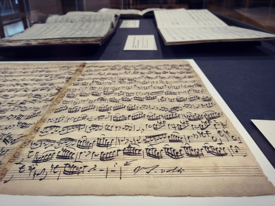 Musical manuscript from exhibit