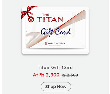 Titan Gift Card worth By ShopClues @ Rs.2,300