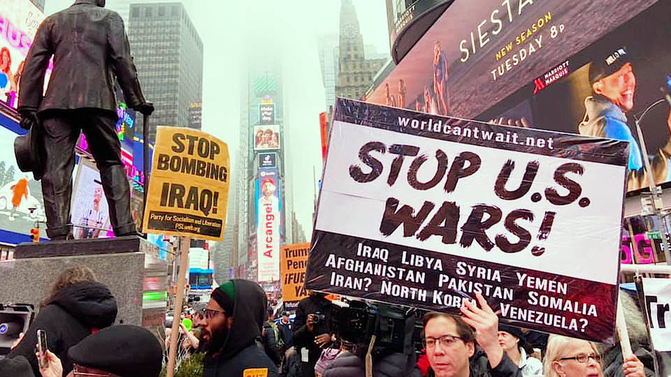 H2 dozens us cities protesters say no war with iran