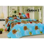 Double Bed Sheet with 2 Pillow Cover - 15 Design Options