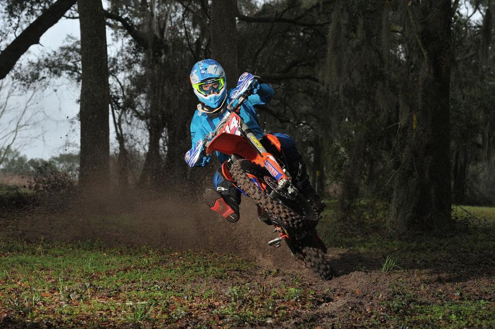 Grant Baylor is part of a new team this year, he'll be on the Tely Energy Racing/KTM team.