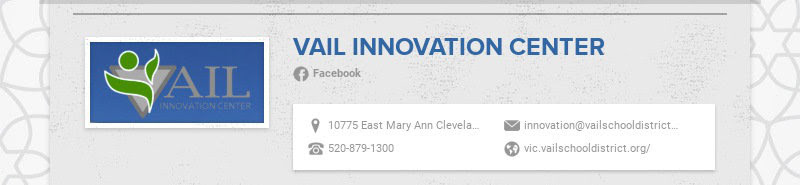 VAIL INNOVATION CENTER Facebook 10775 East Mary Ann Cleveland Way, Tucson, AZ, USA...