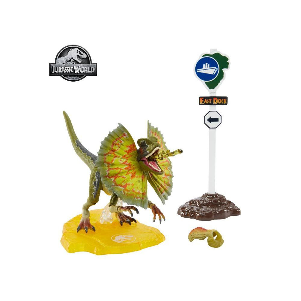 Image of Jurassic Park Dilophosaurus 6-Inch Scale Amber Collection Action Figure - JULY 2020