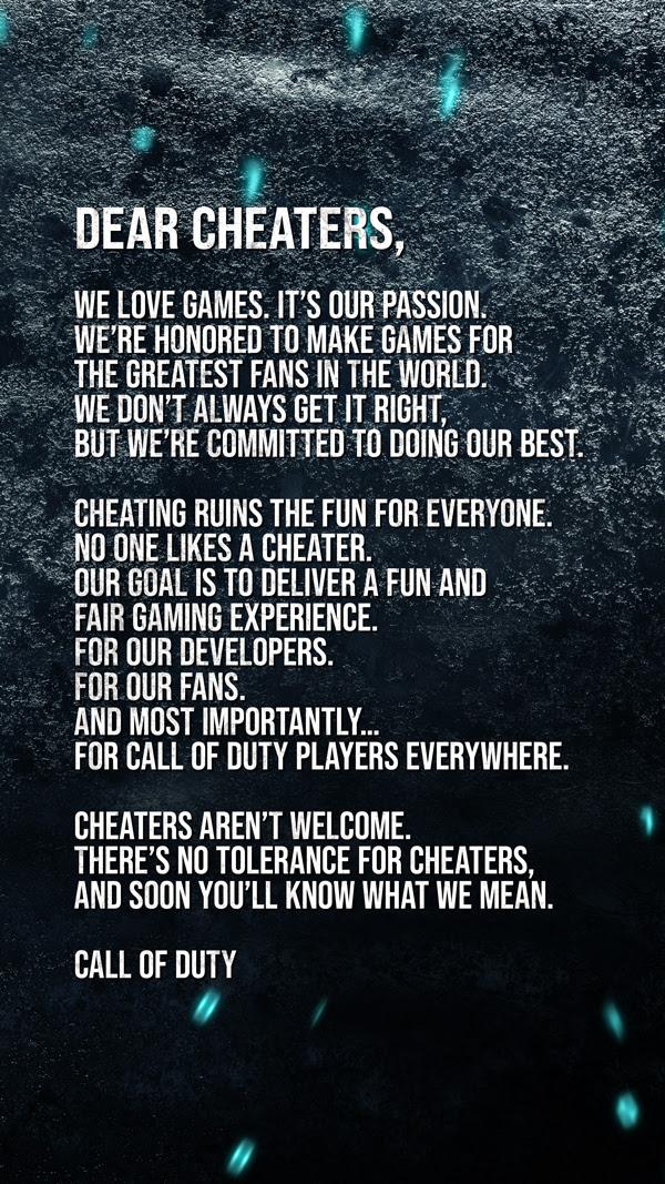 Dear Cheaters,