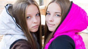 Identical Twin Girls