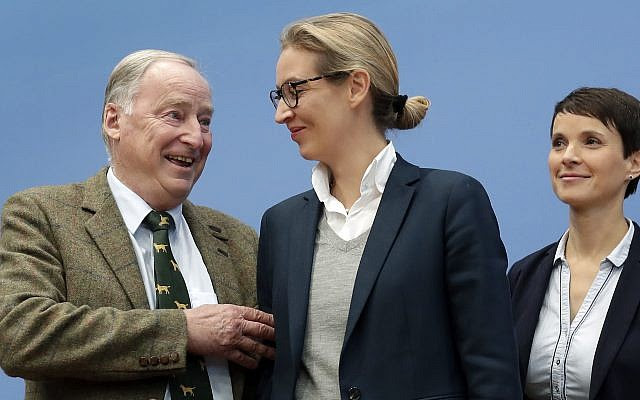 FAR-RIGHT AfD IS GERMANY'S 3rd BIGGEST PARTY: Jewish leaders: It's a nightmare come true; Protesters: Nazis out; AfD leader: Jews have nothing to fear