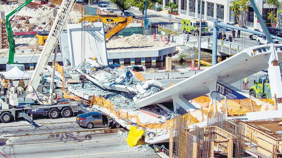 Al menos cuatro muertos y diez heridos por un derrumbe al sur de Miami