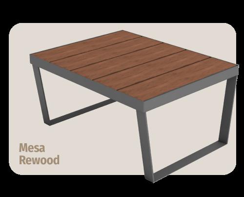 mesa de madeira plástica rewood  que não estraga com sol ou chuva
