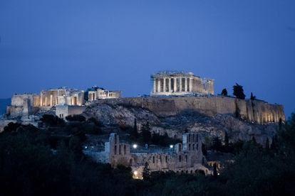 El Partenón y el resto de la Acrópolis, el 1 de mayo.