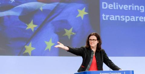 La Comisaria europea de Comercio, Cecila Malmström. REUTERS