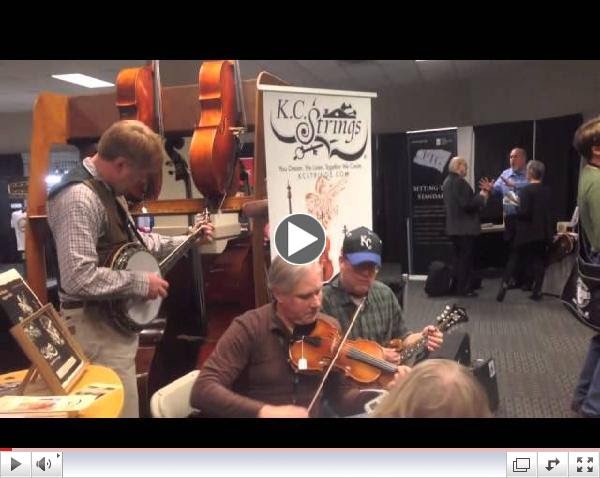 Folk Alliance 2015 -- jamming at the KC Strings booth!