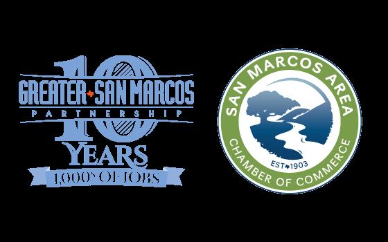 GSMP and San Marcos Chamber Logos