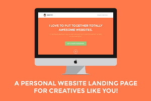 Identity: Personal Site Landing Page