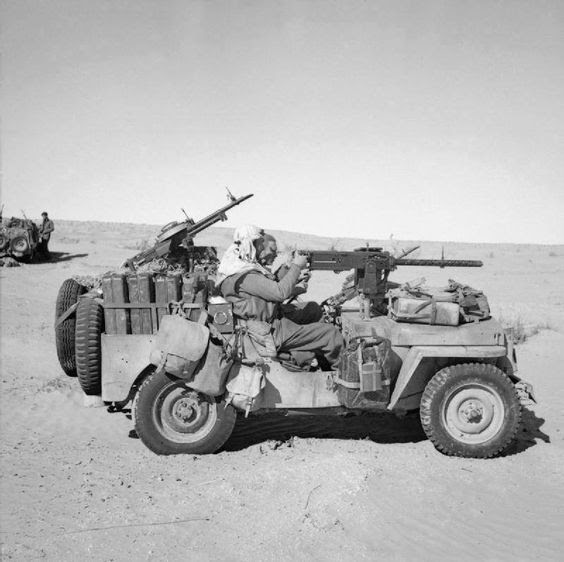 LRDG - the Long Range Desert Group which carried out raids & recons deep behind enemy lines in North Africa between 1940 - 1943.