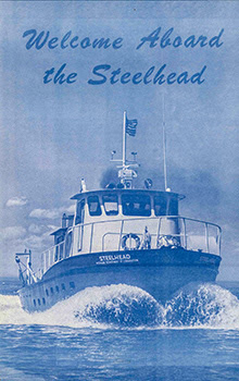 The cover of a 1968 brochure announcing the Survey Vessel Steelhead is shown.