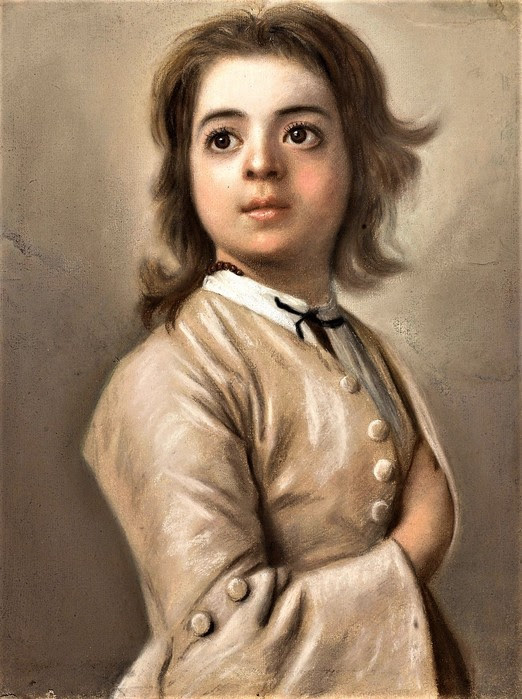 Этюд мальчика (Study of a boy at half the face)    1736-1738    46 х 35.5    бумага, пастель  Амстердам, Рейксмузеум (522x700, 112Kb)