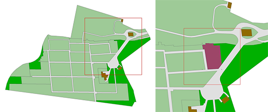 The section location map of Henry Sanderson's grave