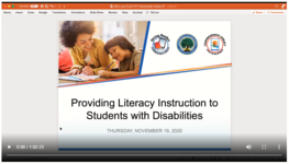 Providing Literacy Instruction to Students with Disabilities
