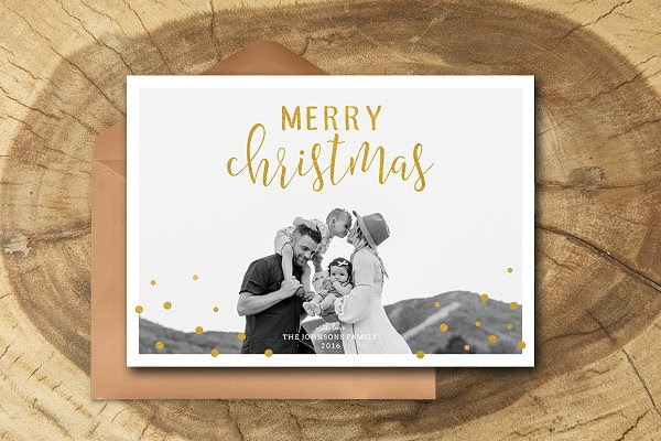 Christmas Card Template 038