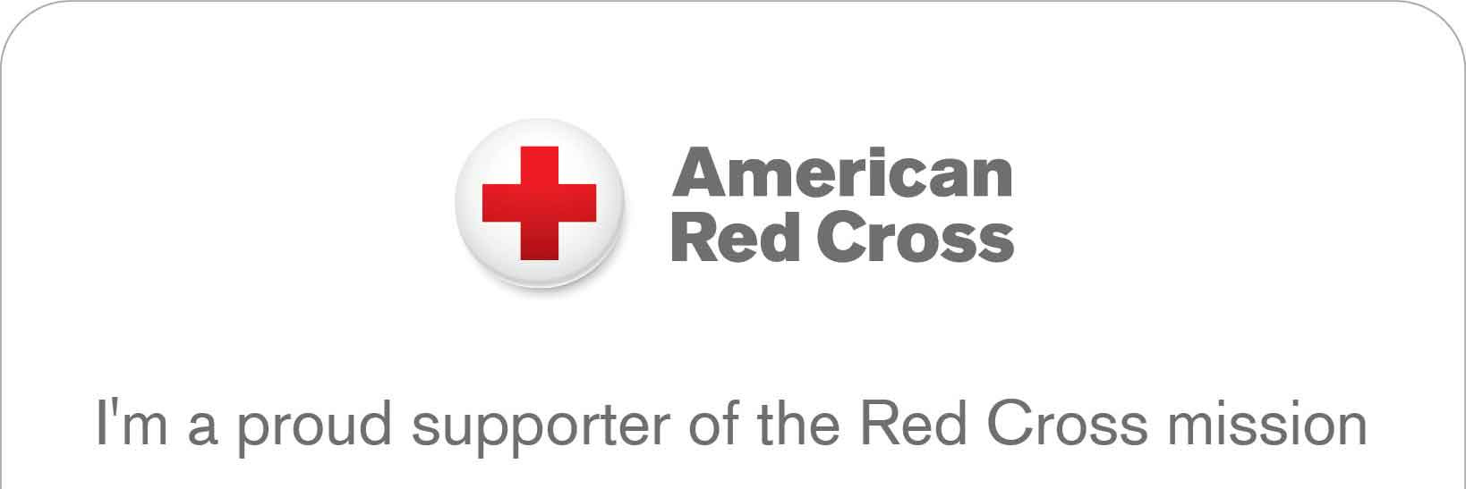 American Red Cross 2019 Supporter Card