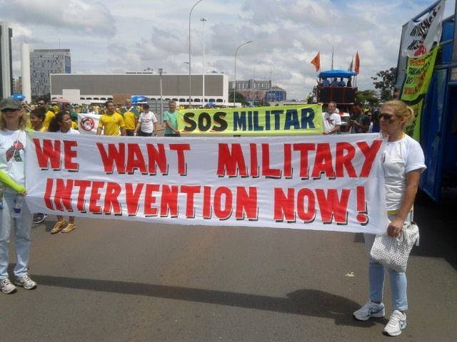 Piden la intervención militar