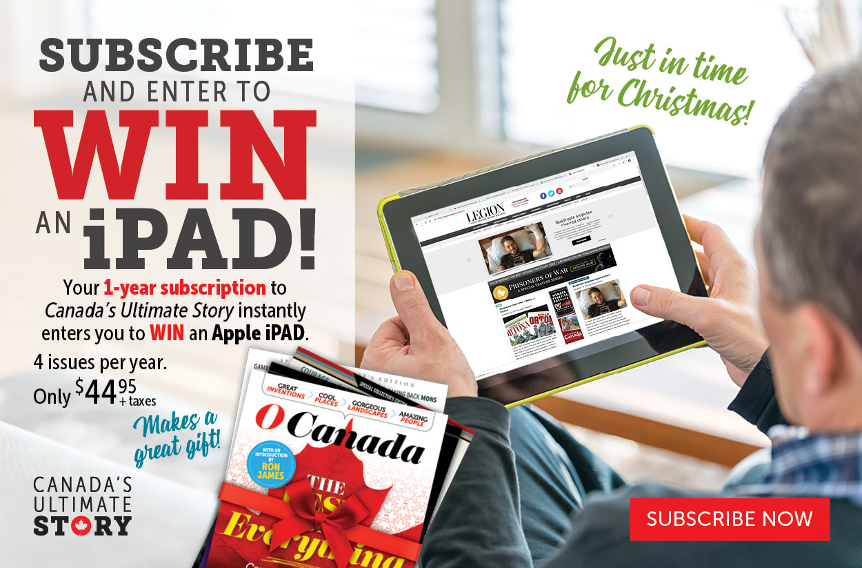 Subscribe to Canada's Ultimate Story and win an IPAD!