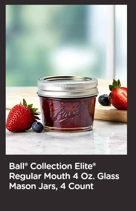 Ball® Collection Elite® Regular Mouth 4 Oz. Glass Mason Jars, 4 Count