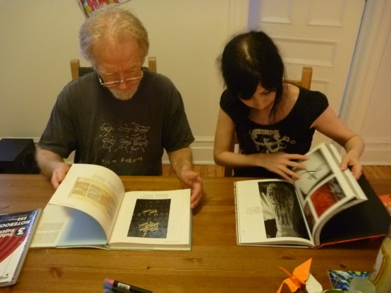 Father and daughter share their love of lettering.