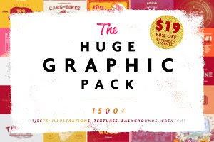 HUGE GRAPHIC PACK • 98% OFF