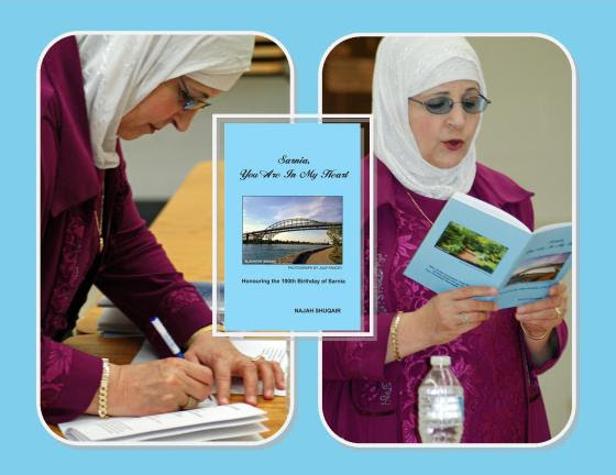 Najah Shuqair launches her second chapbook Sarnia, Your Are in Your Heart