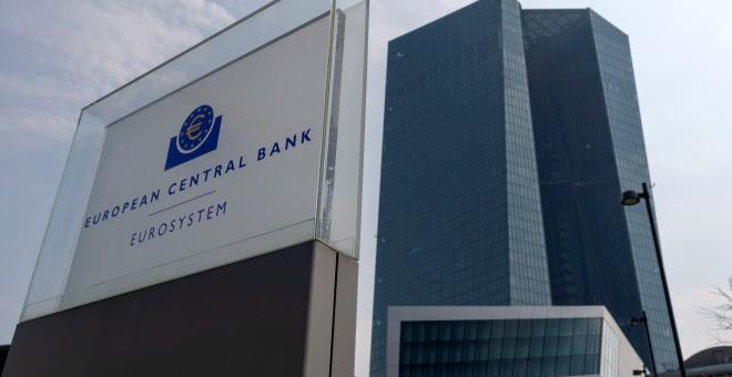 Vista de la fachada del Banco Central Europeo (BCE), en Fráncfort (Alemania). EFE/ Ronald Wittek