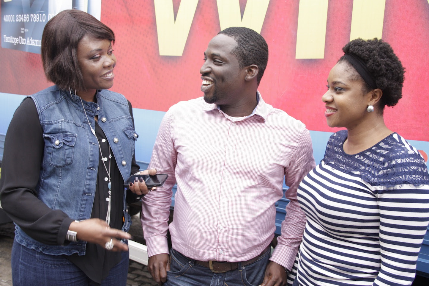 L-R Chief Marketing Officer Interswitch  Cherry Eromosele  Head Acceptance and Acquiring Verve International  Abayomi Olomu  Marketing Manager Consumer Segments Interswitch Enyioma Anaba at the unveil of  the Shop  1