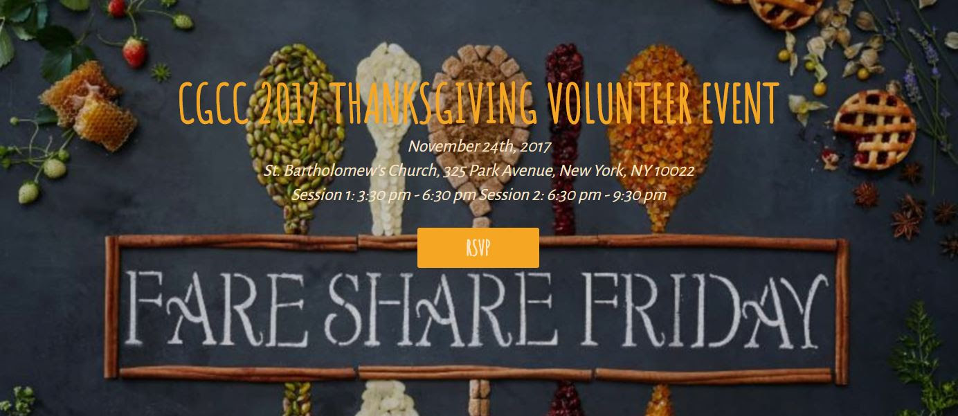 CGCC 2017 Thanksgiving Volunteer Event @ New York | New York | United States