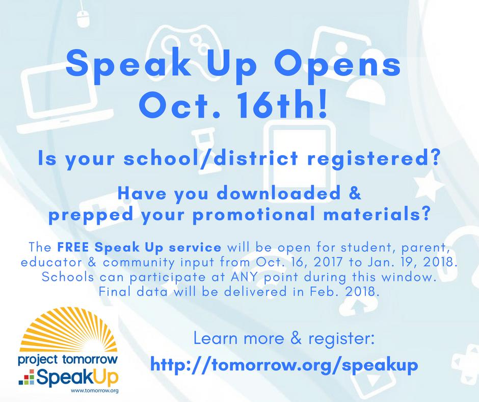 Speak Up 2017 - this month - Facebook