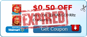 $0.50 off any ONE (1) NABISCO Ritz Crackerfuls