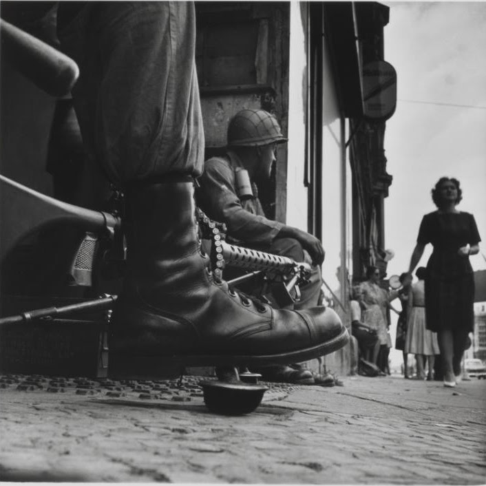 Don McCullin Near Checkpoint Charlie, Berlin 1961