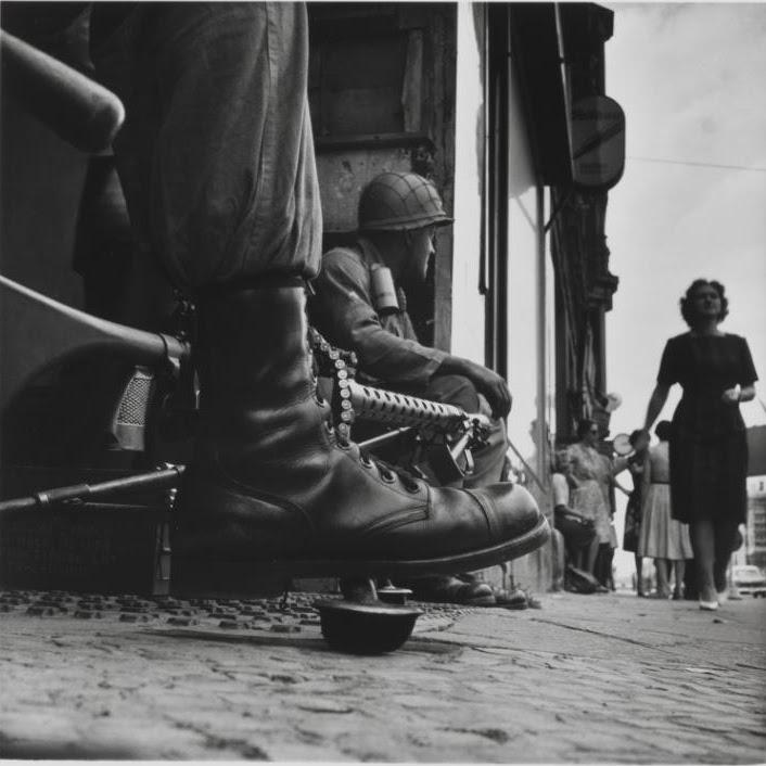 Don McCullin Near Checkpoint Charlie, Berlin 1961