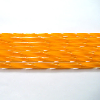 Tangerine Orange Ribbon Cane C219