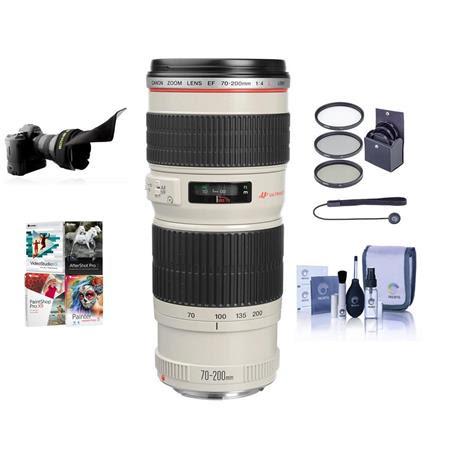 EF 70-200mm f/4L USM AF Lens Kit, USA with 67mm Filter kit, Lens Cap Leash, Professional L