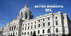 "Picture of the MN State Capitol with the words ""Better Minnesota DFL"""