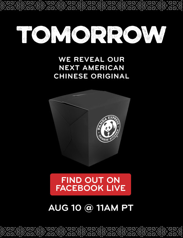 Tomorrow - We Reveal our Next American Chinese Original - At 11am PDT on Facebook Live