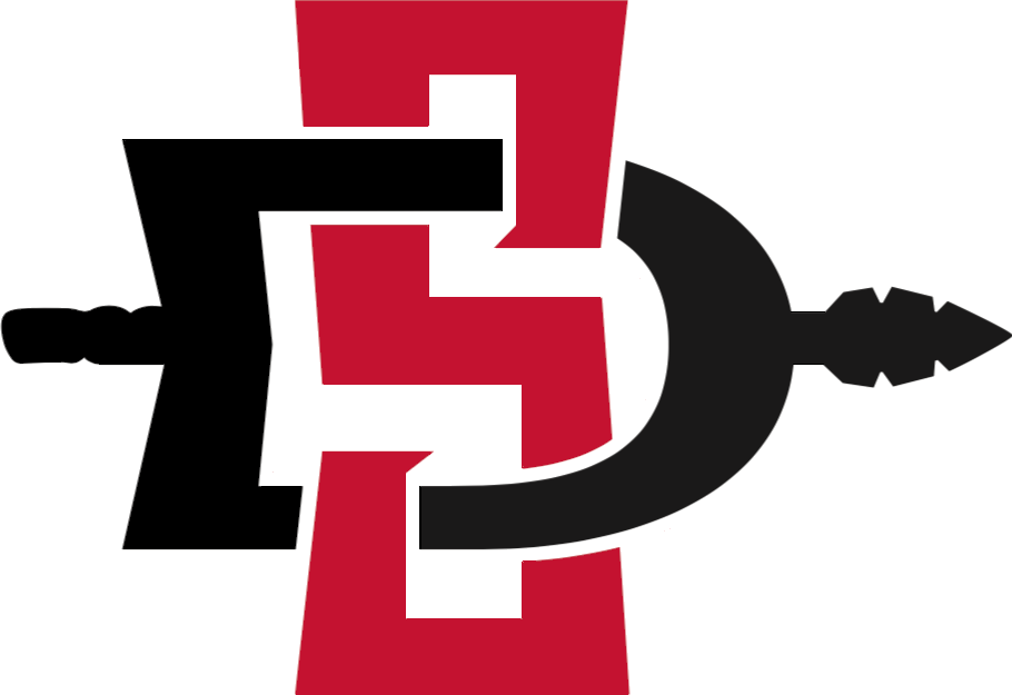 Image result for San Diego STate Aztecs logo blank background