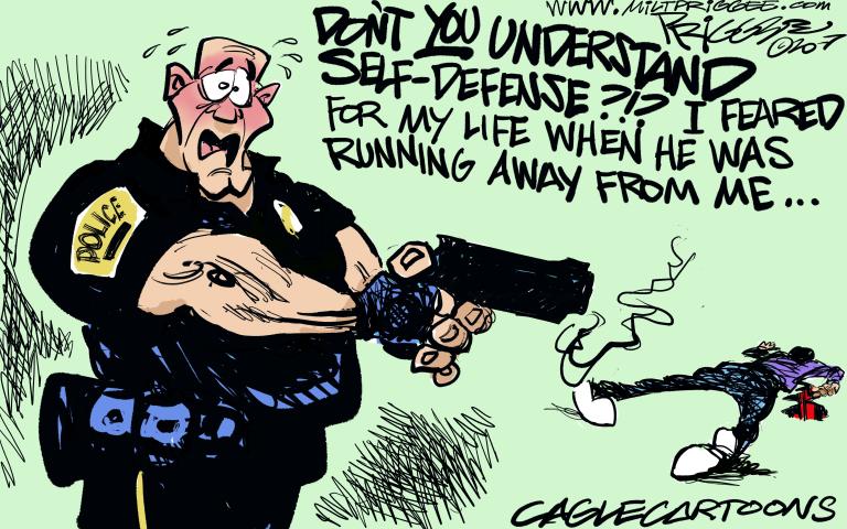 POLICE SHOOTING, RACISM, MURDER, AFRICAN-AMERICAN, SELF-DEFENSE