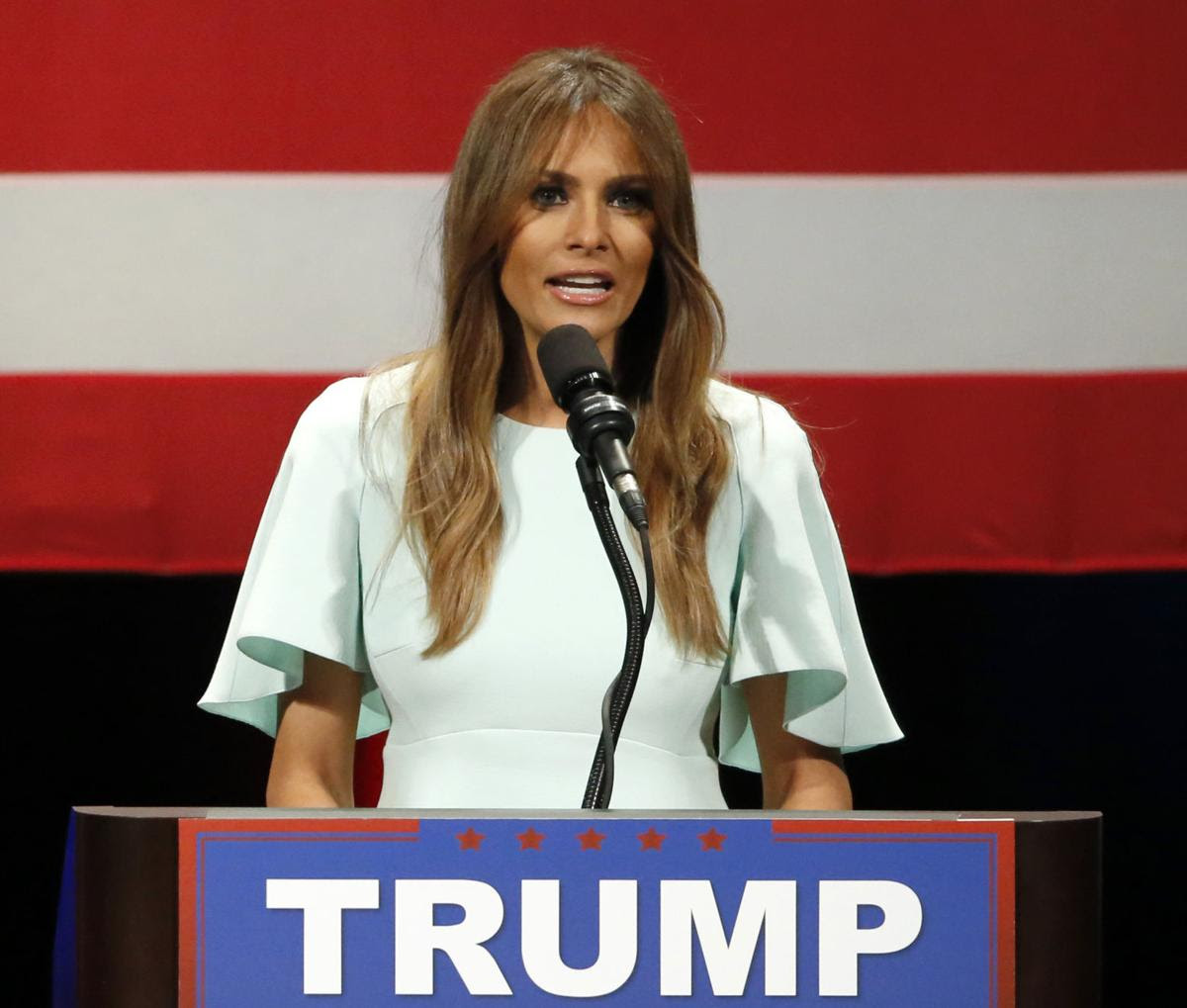 Melania Trump, April 2016