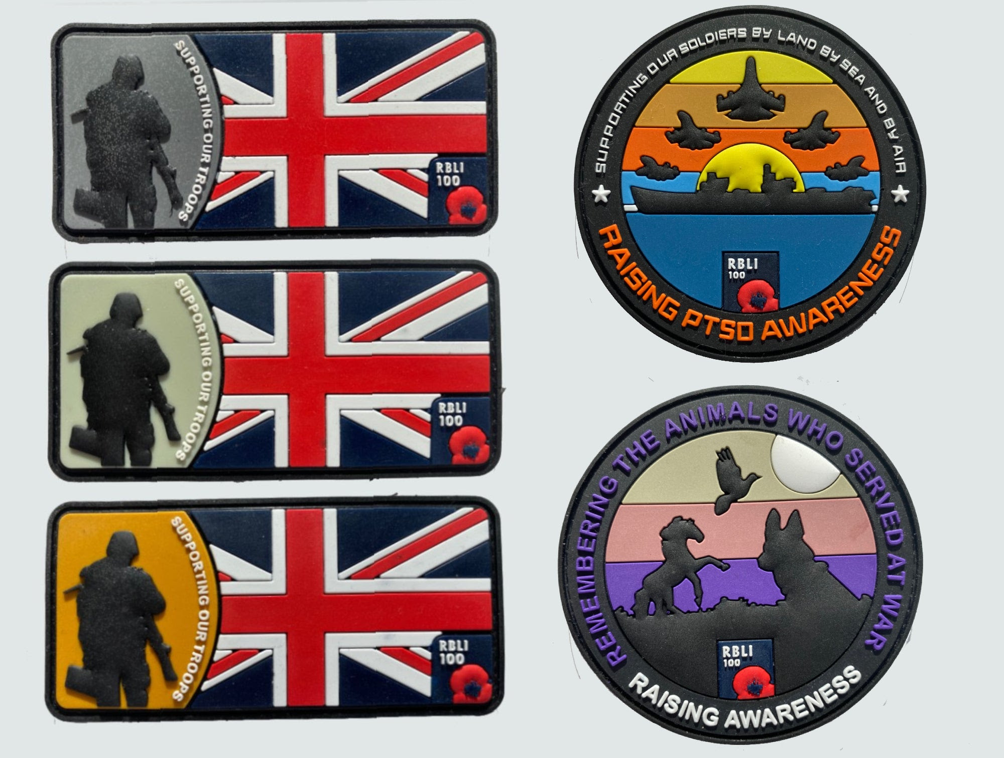 PTSD Awareness Velcro Patch Pack of 5