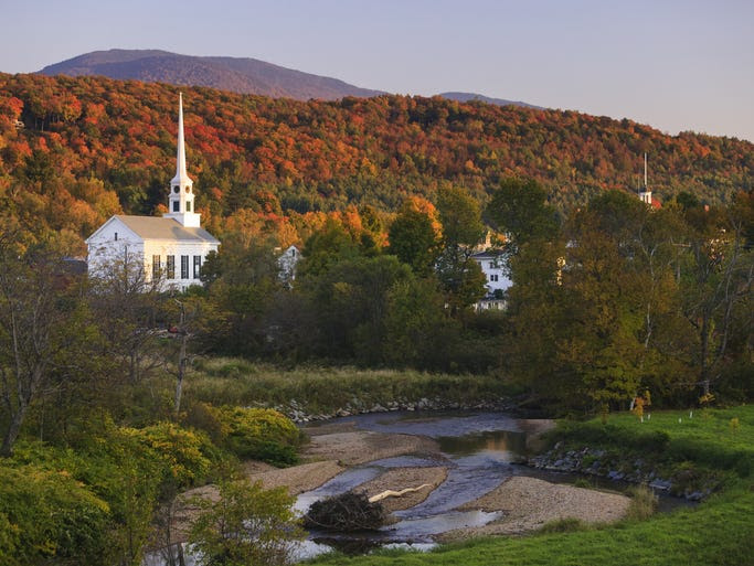 Likely                                                           the most                                                           photographed                                                           church in                                                           Vermont, the                                                           Stowe                                                           Community                                                           Church with                                                           its towering                                                           white spire                                                             has served as                                                           a                                                           multi-denominational                                                           church since                                                           it was built                                                           in 1818.